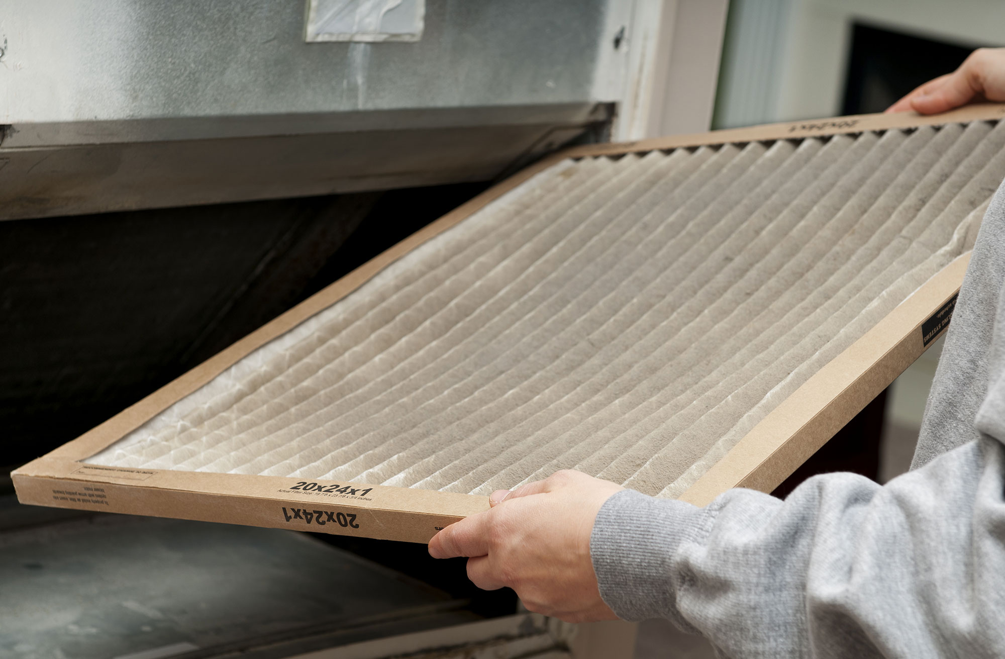 Take the air filter out of the air handler